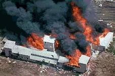 Branch Davidian compound burns to the ground.